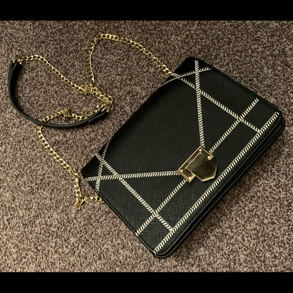 Charming Charlie's black crossbody purse